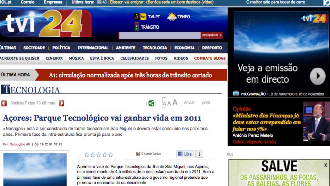 Parque Tecnológico vai ganhar vida em 2011