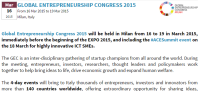 GLOBAL ENTREPRENEURSHIP CONGRESS 2015
