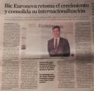 BIC EURONOVA retoma o crescimento e consolida a sua internacionalização