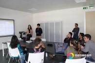 9.ºano da Escola Secundária da Lagoa em visita ao Nonagon