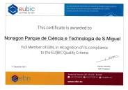 Acreditação EU|BIC renovada por 3 anos